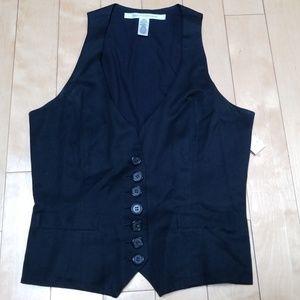 DVF Black Vest Size 6